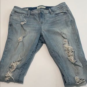 Torrid Skinny Light Wash Distressed Jeans size 12